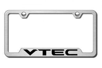 Autogold® - VTEC Chrome Logo on Brushed Stainless Frame