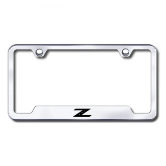 Autogold® - Z Laser Etched Logo on Chrome License Frame with Cut-Outs