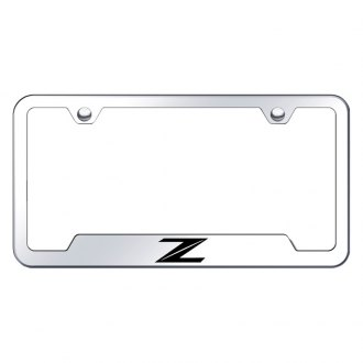 Autogold® - Z New Laser Etched Logo on Chrome License Frame with Cut-Outs
