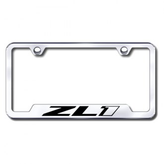 Autogold® - ZL1 Laser Etched Logo on Chrome License Frame with Cut-Outs