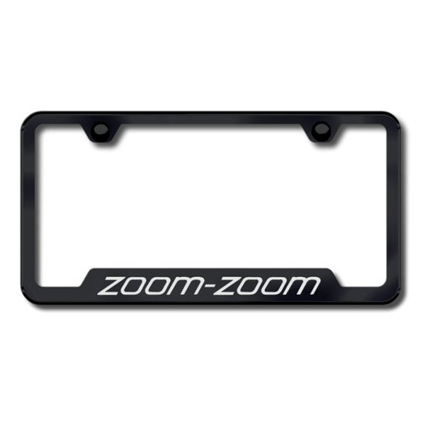 Autogold® - Zoom Zoom Logo on Black Frame with Cut-Outs