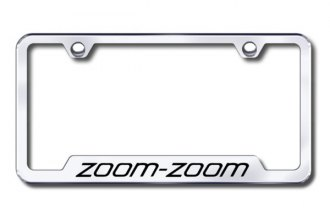 Autogold® - Zoom Zoom Logo on Chrome Frame with Cut-Outs