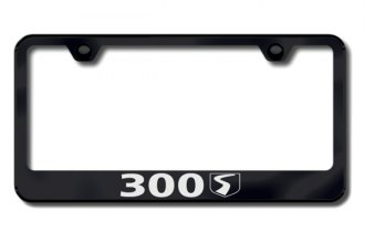 Autogold® - 30S Logo on Black License Plate Frame