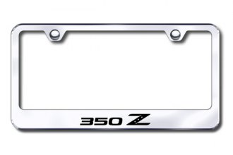 Autogold® - Laser Etched 350Z Logo on Chrome Frame
