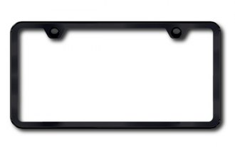 Autogold® - Plain 2-Hole Black Powder-Coated Frame