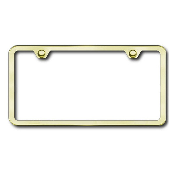 Autogold® - Plain 2-Hole Gold Frame