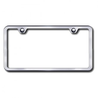 Autogold® - 2-Hole Slimline Brushed Stainless License Frame