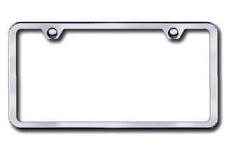 Autogold® - 2-Hole Slimline Brushed Stainless License Plate Frame