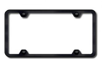Autogold® - Plain 4-Hole Black Frame