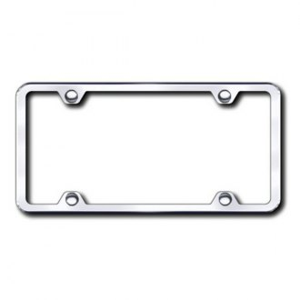 Autogold® - Plain 4-Hole Chrome License Frame