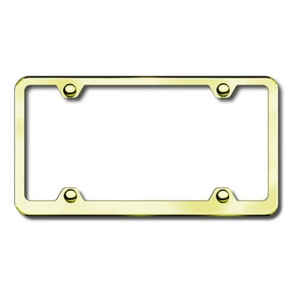 Autogold® - Plain 4 Hole Gold License Frame