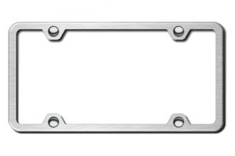 Autogold® - Brushed Stainless 4-Hole Slimline License Plate Frame