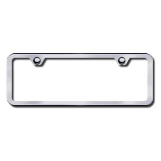 Autogold® - Brushed Stainless 2-Hole Mini License Frame