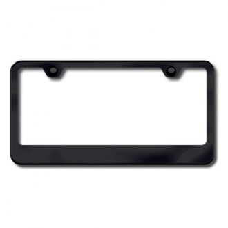Autogold® - 2-Hole Wide Bottom License Plate Frame