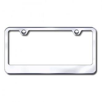 Autogold® - Plain 2-Hole Chrome License Frame
