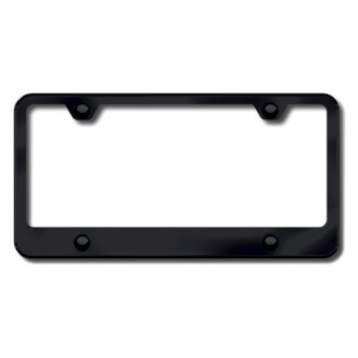 Autogold® - 4-Hole Wide Bottom Black License Frame
