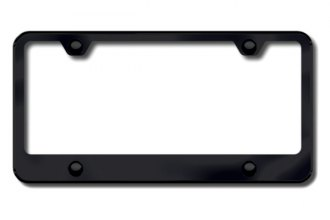 Autogold® - 4-Hole Wide Bottom Black License Plate Frame