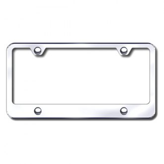 Autogold® - 4-Hole Wide Bottom Chrome License Frame