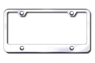 Autogold® - 4-Hole Wide Bottom Chrome License Plate Frame