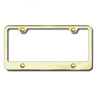 Autogold® - 4-Hole Wide Bottom Gold License Frame