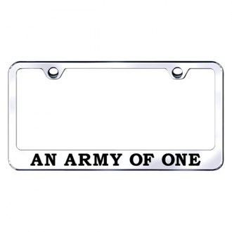 Autogold® - Chrome License Plate Frame with Laser Etched An Army of One Logo