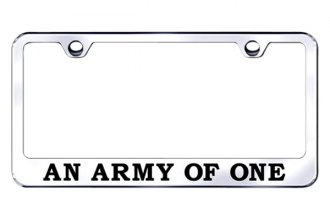 Autogold® - An Army of One Logo on Stainless Steel License Plate Frame