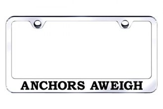 Autogold® - Anchors Away Logo on Chrome License Plate Frame