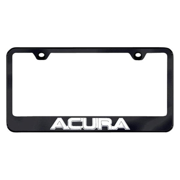 Autogold® - 3D Acura Logo on Black Frame