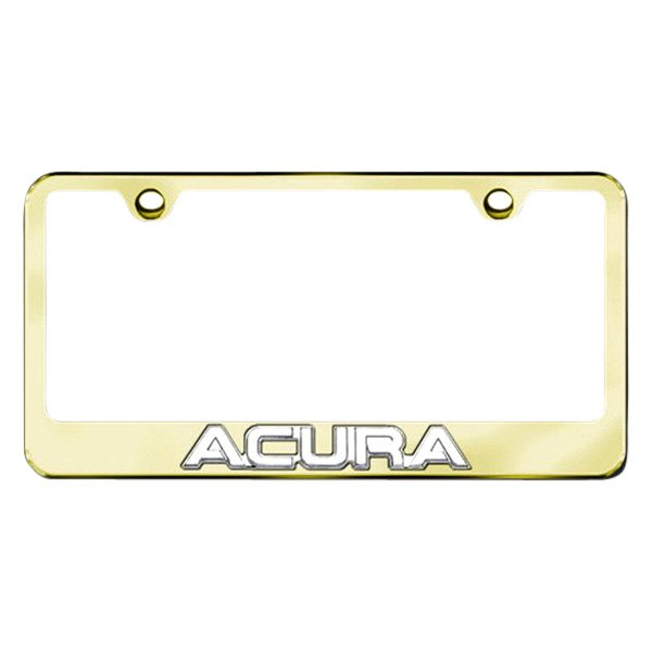 Autogold® - Acura Logo on Gold Metal Frame