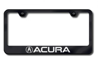 Autogold® - Laser Etched Acura Logo on Black Frame
