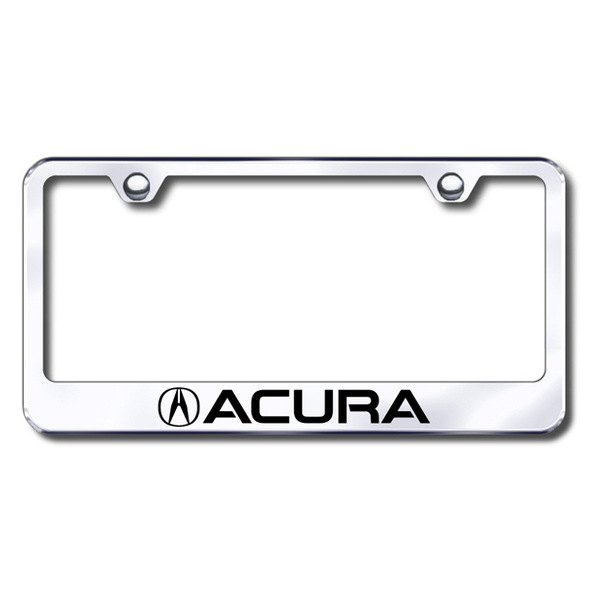 Autogold® - Laser Etched Acura Logo on Chrome Frame