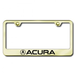 Autogold® - Laser Etched Acura Logo on Gold Frame