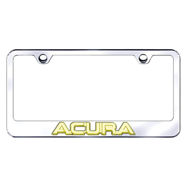 Autogold® - 3D Gold Acura Logo on Chrome Frame