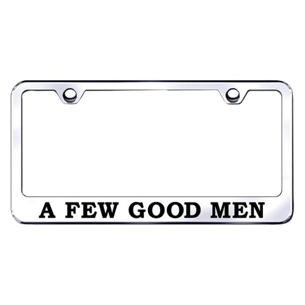Autogold® - License Plate Frame with Laser Etched A Few Good Men Logo