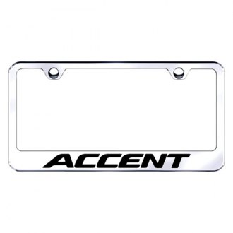 Autogold® - Chrome License Plate Frame with Laser Etched Accent Logo