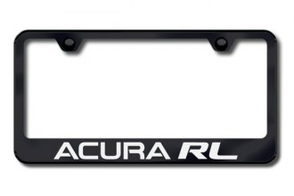 Autogold® - Laser Etched Acura RL Logo on Black Frame