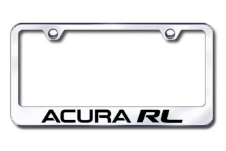Autogold® - Laser Etched Acura RL Logo on Chrome Frame