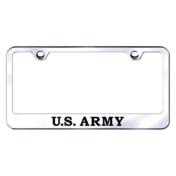 Autogold® LF.ARMY.EC - Chrome License Plate Frame with Laser Etched ...