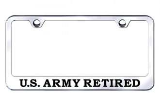 Autogold® - U.S. Army Retired Logo on Chrome Frame