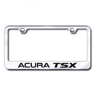 Autogold® - Laser Etched Acura TSX Logo on Chrome Frame