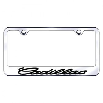Autogold® - 3D Black Cadillac Logo on Chrome Frame