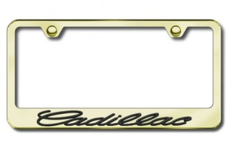Autogold® - 3D Black Cadillac Logo on Gold Frame