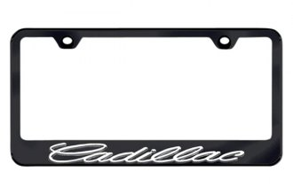 Autogold® - 3D Cadillac Logo on Black Frame