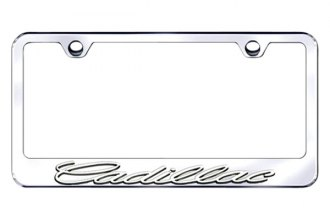 Autogold® - 3D Gold Cadillac Chrome Logo on Chrome Frame
