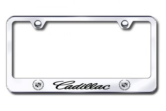 Autogold® - Laser Etched Cadillac Logo on Stainless Steel Frame