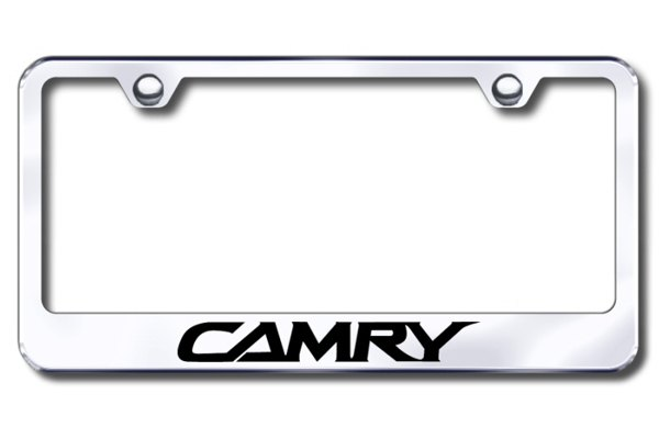Autogold® - Laser Etched Camry Logo on Chrome Frame