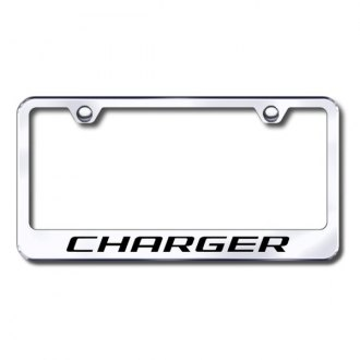 Autogold® - Laser Etched Charger Logo on Chrome Frame
