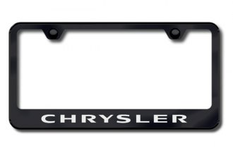 Autogold® - Laser Etched Chrysler Logo on Black Frame