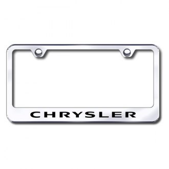 Autogold® - Laser Etched Chrysler Logo on Stainless Steel License Frame