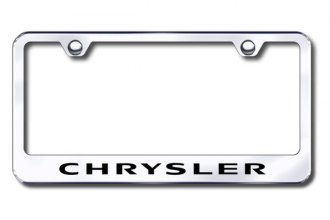 Autogold® - Laser Etched Chrysler Logo on Stainless Steel Frame